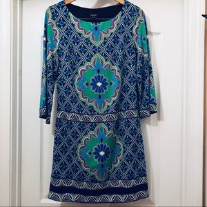 Laundry Paisley Print Shift Dress Size S NWOT